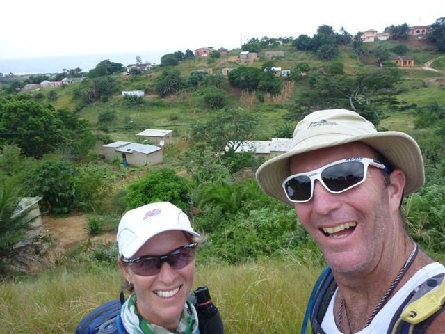 Kim and Peter van Kets on the Tri-The Beloved Country expedition near Durban