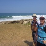 Kim and Peter van Kets stop for a photo near durban