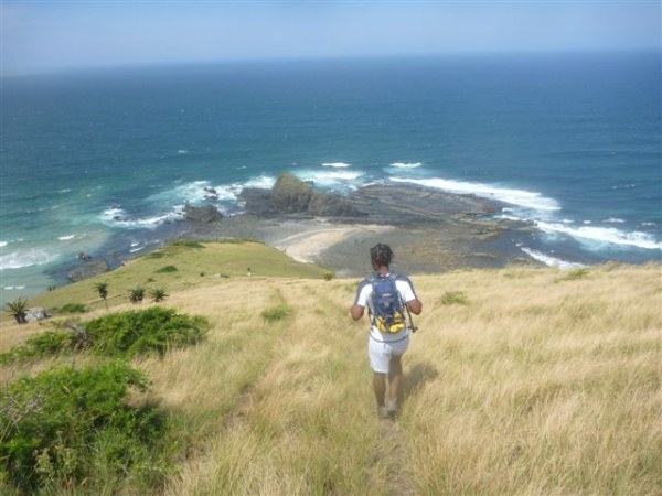 Nanto with Kim van Kets making their way down a hill in the Transkei