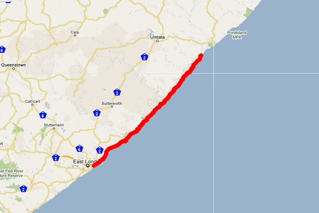 day 6 and 7 - Google Map (209km)