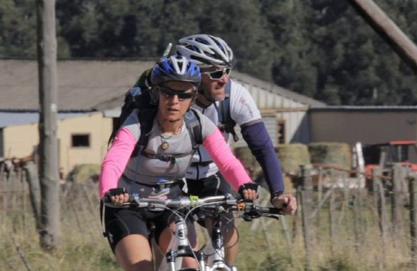 Kim and Peter on the bikes again in the Eastern Cape