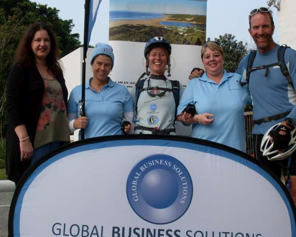 Kim van Kets with her Sponsor Global Business Solutions